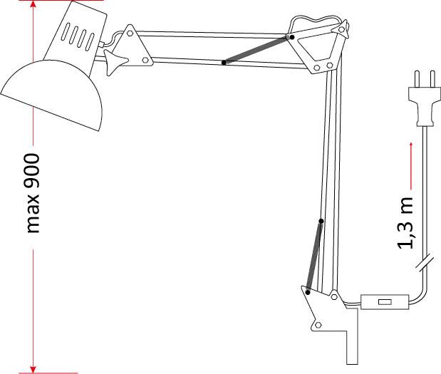 Lampa kreślarska LK-01 [biała]